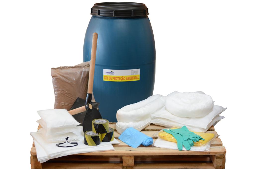 KIT SOPEP – Kit Proteção Ambiental 200 litros – Linha Branca – Bombona